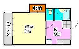 ハイツトキワ[1階]の間取り