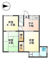 宮前荘[1階]の間取り
