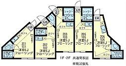 ユナイト川崎クロードレヴィ[2階]の間取り