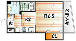 古船場タカヤコーポレーションビル[9階]の間取り