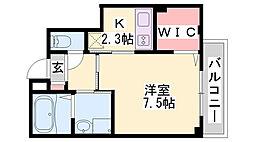 仮)神戸市長田区二葉町マンション 2階1Kの間取り