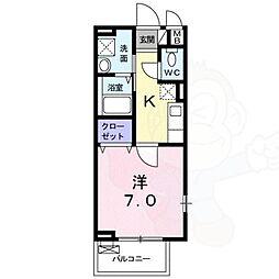 Casa  Orto 2階1Kの間取り
