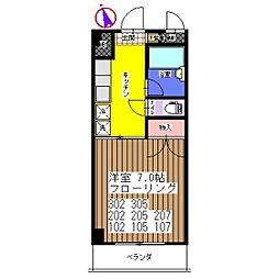 ラフィーネ松波[305号室]の間取り