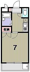 光陽マンションB[302号室]の間取り