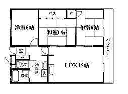 第3寿松ハイツ[2階]の間取り
