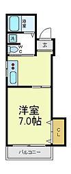 ドルフ天王寺[2階]の間取り