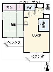 パソテイト覚王山[4階]の間取り