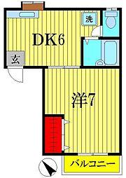 マイルーム藤II[2階]の間取り