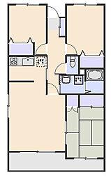 アーガスヒルズ61[3階]の間取り