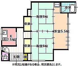 大盛アパート[1階]の間取り