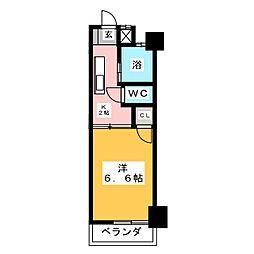 シャトー山田[5階]の間取り