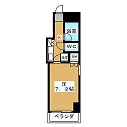 エステムコート御所南[8階]の間取り