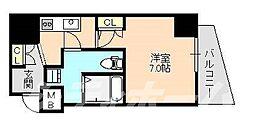 Osaka Metro谷町線 阿倍野駅 徒歩9分の賃貸マンション 2階1Kの間取り