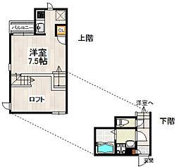 CB博多カペラ(シービー博多カペラ)[1階]の間取り