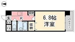 ジョイフル第3小坂[406号室]の間取り