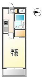 兵庫県姫路市飾磨区三宅1丁目の賃貸マンションの間取り