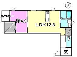 La Casa CAYENNE3[206 号室号室]の間取り