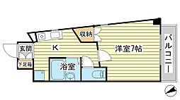 O−3マンション(学生)[308号室]の間取り