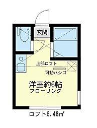 ユナイト 和田町ジェームス・スチュアート[2階]の間取り