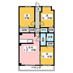 コートソレイユ[4階]の間取り