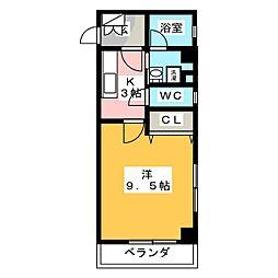 ラプーリア御器所[4階]の間取り