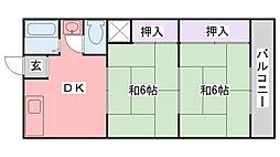 幸成マンション[404号室]の間取り
