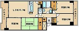 兵庫県明石市川崎町の賃貸マンションの間取り