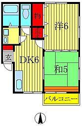 アクシオン小倉[2階]の間取り