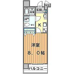 アルファコート川越脇田I[5階]の間取り
