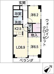 熱田一番館[3階]の間取り
