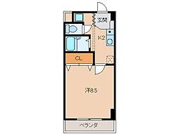 千代マンション8号館[4階]の間取り