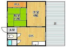 武庫之荘三興マンション[106号室]の間取り