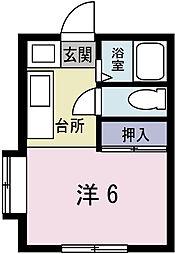 サノハイツ2[105号室]の間取り