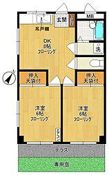 サヤカマンション[1階]の間取り