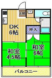 アドベ93[6階]の間取り