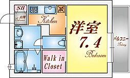 シャーメゾン妙法寺[203号室]の間取り