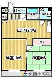 レジデンス中央[2階]の間取り