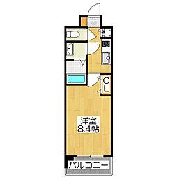 ベラジオ京都一乗寺211[2階]の間取り