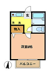 埼玉県さいたま市桜区栄和3丁目の賃貸アパートの間取り