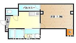 大阪府堺市堺区九間町西2丁の賃貸マンションの間取り