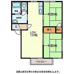 イトヤコーポ常田B[1階]の間取り