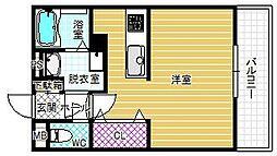 大阪府柏原市片山町の賃貸マンションの間取り