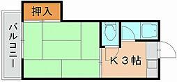 コアラハイツ[2階]の間取り