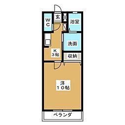 原田ロワール[2階]の間取り