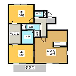 花の木壱番館[1階]の間取り