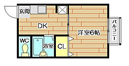 リバティハウス[2階]の間取り
