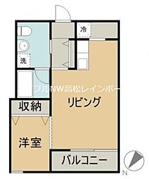 香川県丸亀市通町の賃貸アパートの間取り