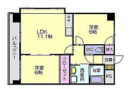 ケイズマンション5[7階]の間取り