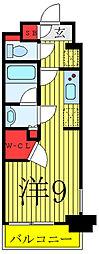 JR山手線 駒込駅 徒歩1分の賃貸マンション 2階ワンルームの間取り