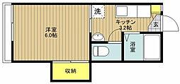 東京都江戸川区船堀2丁目の賃貸アパートの間取り